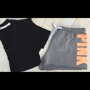 PINK VS Sweat Shorts & t-Shirt set #2 bundle